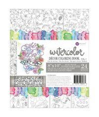 Vol. 4 Watercolor Decor Coloring Book