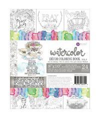 Vol. 3 Watercolor Decor Faith Coloring Book