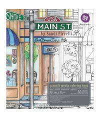 Main Street Coloring Book