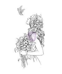 "Aubrey - Prima Princesses Stamp 5""X 7"""