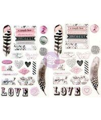Rose Quartz Puffy Stickers