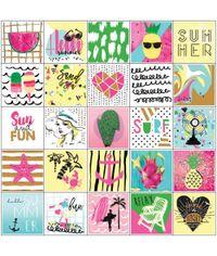 "Summer W/Foil - Planner Stickers 6""X6"" 3/Pkg"