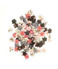 Travertine Flowers Rose Quartz