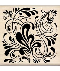 Flourish Background Wood - Stamp