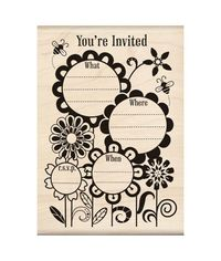 Fanciful Flower Invite - Stamp