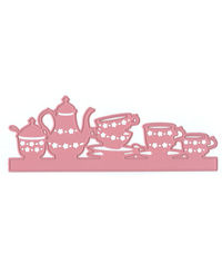 Afternoon Tea  Edge with Cups/Teapot Cutting & Embossing - Die