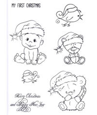 Teddy Bear Christmas - Stamp