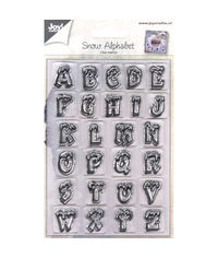 Snow Alphabet - Stamp