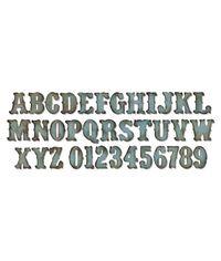 Vintage Market Alphabet - Die