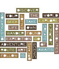 Traveler Words, Thin - Thinlits Die