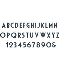 "Deco Alphabet 1"" Tall - XL Die"