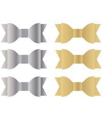 Silver & Gold Foil - Acetate Bows