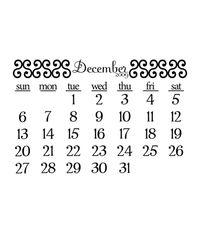 December 2009 Calendar - Stamp