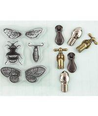 Moth Wings - Stamp & Embellishment