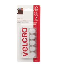 White Velcro - Self Adhesive Coins