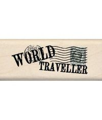 World Traveller Wooden Stamp