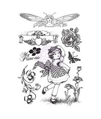 Princess Cling Rubber Stamps 4 X6
