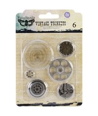 "Washers #2, 1"" To 2"", 6/Pkg Metal Vintage Trinkets"