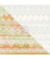 White Resist Canvas: Lace Pattern 12x12