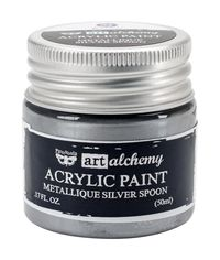Metallique Silver Spoon - Alchemy Acrylic Paint