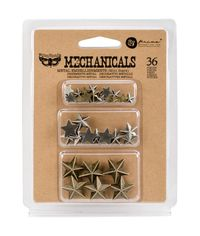 Mini Stars 36/Pkg - Metal Embellishments