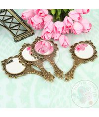 Antique Hand Mirror Pendant