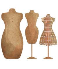 Antique Dress Forms - 3 Piece - Die