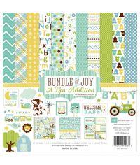 "Bundle Of Joy/A New Addition - Baby Boy Collection Kit 12""X12"""
