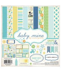 "Baby Mine/Boy Collection Kit 12""X12"""