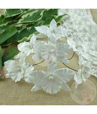 White - Orchids Combo