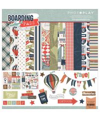"Boarding Pass Collection Pack 12""X12"""