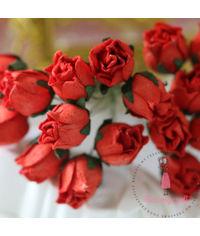 Big Rose Buds - Red
