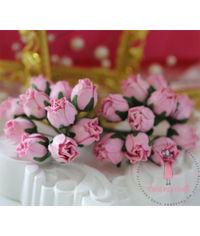 Big Rose Buds - Pink