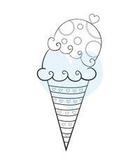 Ice Cream Sugar Cone - Stamp
