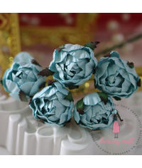 Cabbage Rose - Blue