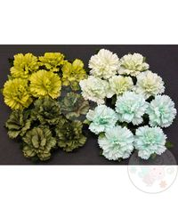 GREEN MULBERRY PAPER CARNATION FLOWERS