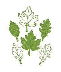 Autumn Leaf Trio - Finishing Touches - Die