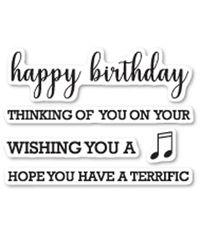 Birthday Sentiments - Stamp