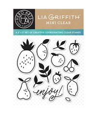 "Enjoy Fruit Hero Arts Clear Stamps By Lia 3""X3"""