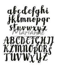Brush Alphabet - Die
