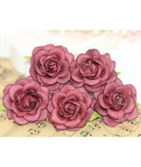 Curved Roses 45 MM - Vintage Maroon