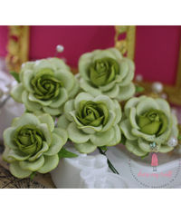 Curved Roses 45 MM - Green Combo