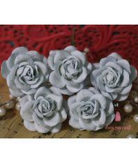 Curved Roses 45MM - Vintage Dull Blue