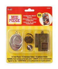 Mod Podge Podgeable Metal Blanks 10/Pkg