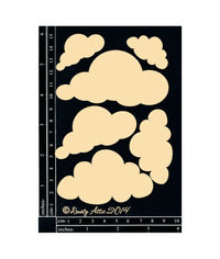 Clouds 6pk - Chipboard Cutouts