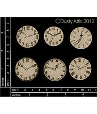 Mini Clock Faces - Chipboard Cutouts