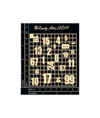Mini Number Grid - Chipboard Cutouts