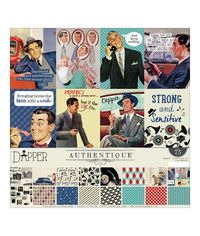 "Dapper  Authentique Collection Kit 12""X 12"""