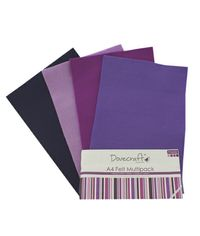 Purple Felt Sheets A4 Multipack