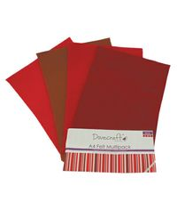 Red Felt Sheets A4 Multipack